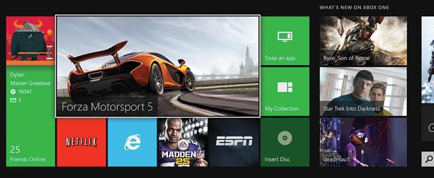 Xbox apps header
