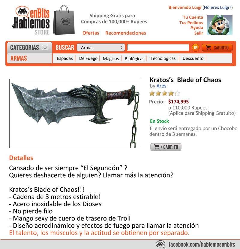 Kratos Blade of Chaos
